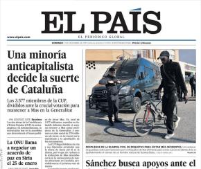 Despiezando un titular: El País y laCUP